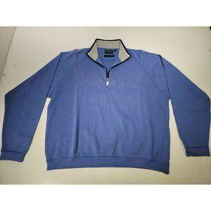 Bobby Jones Men's 1/4 Zip Long Sleeve Light Blue